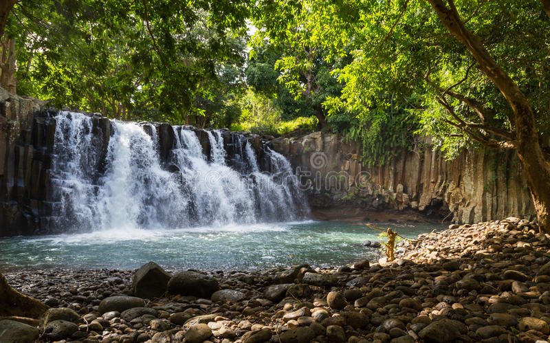 罗切斯特在Souillac毛里求斯落瀑布 图库摄影