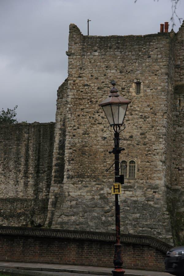 罗切斯特城堡在英国英国 库存照片