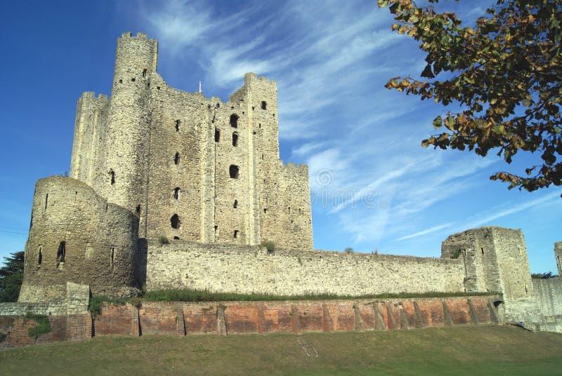 罗切斯特城堡在英国 免版税库存图片