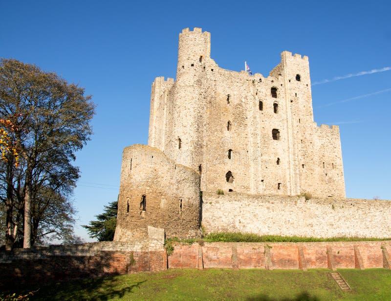 罗切斯特城堡,肯特英国 库存图片