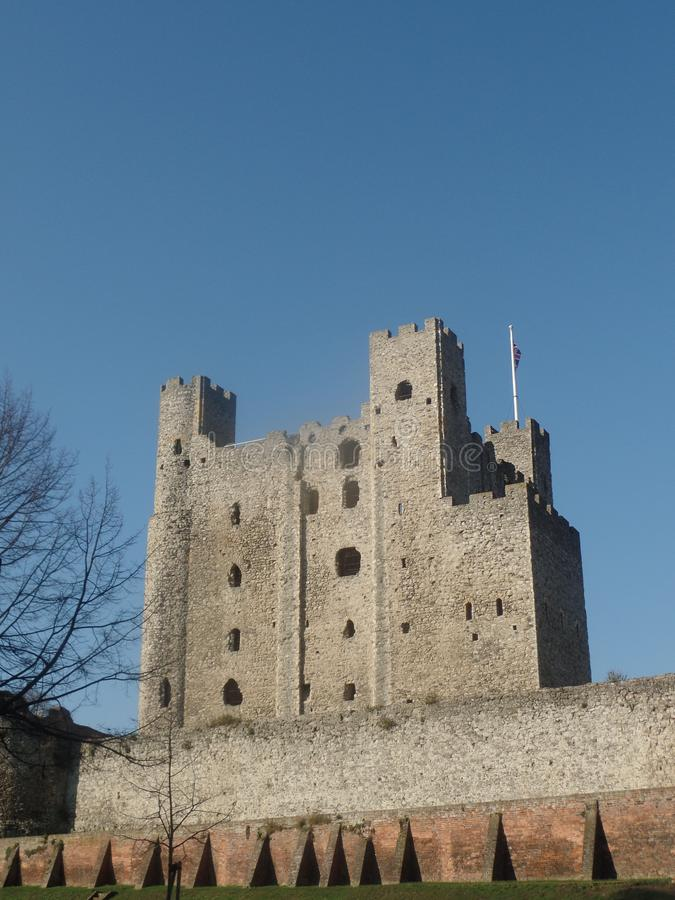罗切斯特城堡,肯特,英国 免版税库存照片