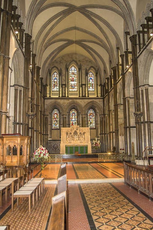 罗切斯特大教堂内部 免版税库存图片