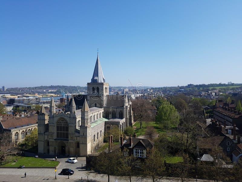 罗切斯特大教堂在英国,英国 库存图片