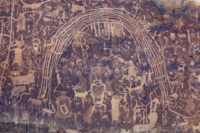 罗切斯特岩石艺术盘区,犹他 免版税库存照片