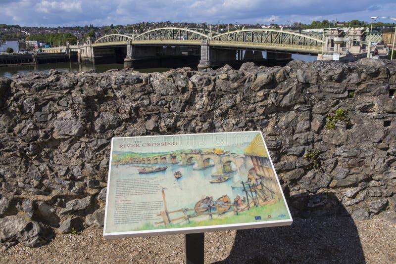 罗切斯特桥梁在肯特,英国 库存照片