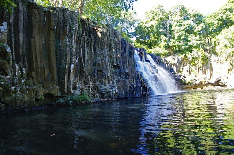 罗切斯特瀑布,毛里求斯苏亚克 免版税图库摄影