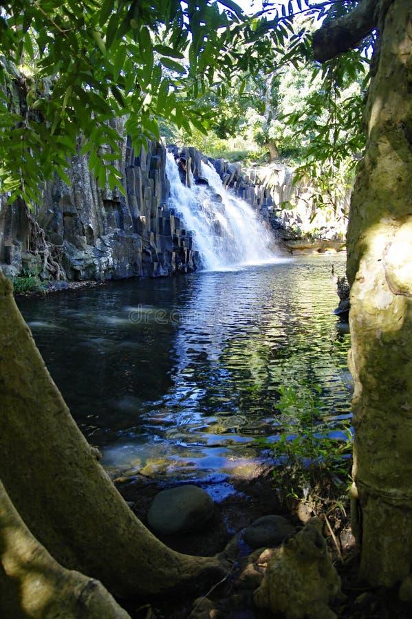 罗切斯特瀑布,毛里求斯苏亚克 免版税库存图片