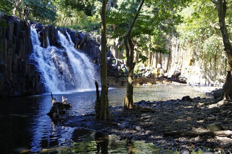 罗切斯特瀑布,毛里求斯苏亚克 免版税库存照片