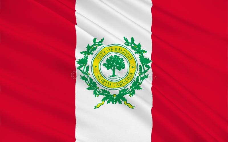 罗利旗子在北卡罗来纳,美国 皇族释放例证