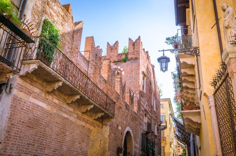 罗密欧房子在维罗纳,意大利 库存图片