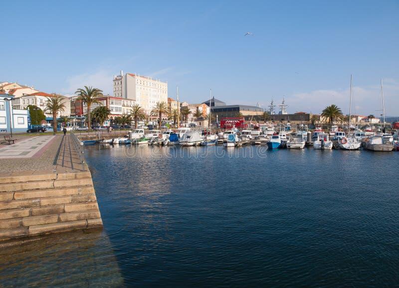 费罗尔半岛码头在一个晴天 库存照片