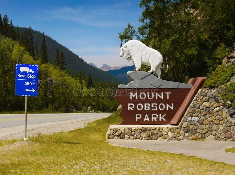 罗布森山公园,加拿大 库存图片