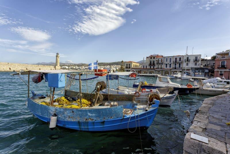 罗希姆诺威尼斯式时代港口 免版税图库摄影