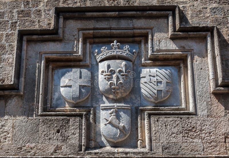 罗得岛冠墙壁 库存照片