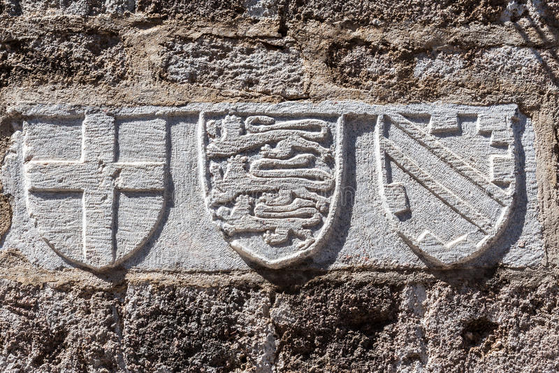 罗得岛冠墙壁 图库摄影