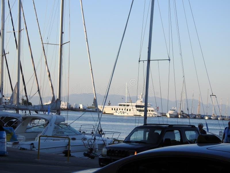 罗得岛港 希腊 免版税库存图片