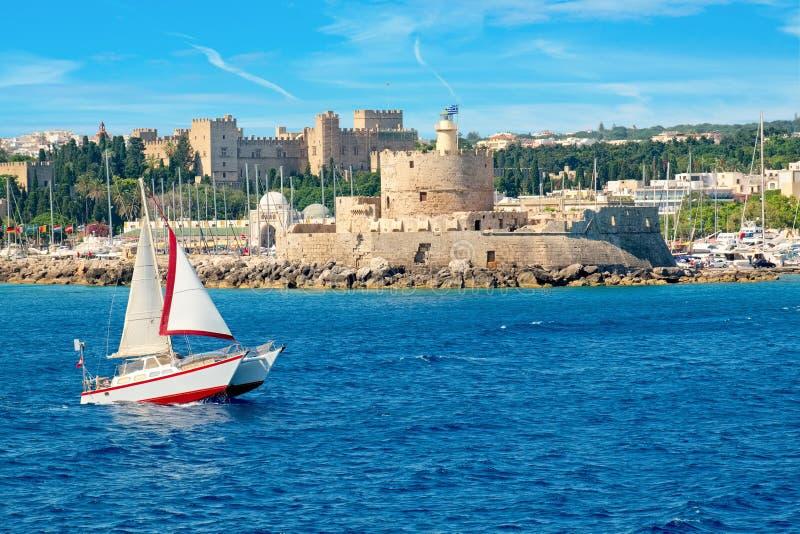 罗得岛镇 罗得岛,希腊 免版税库存图片