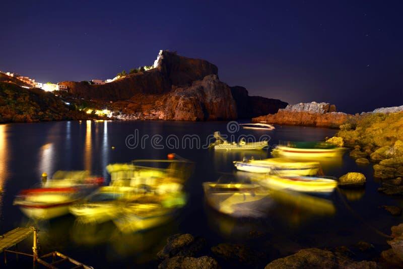 罗得岛, Lindos 免版税图库摄影
