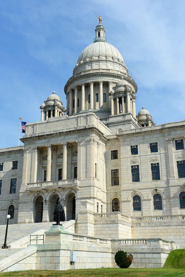 罗德岛州状态议院,上帝, RI,美国 免版税库存照片
