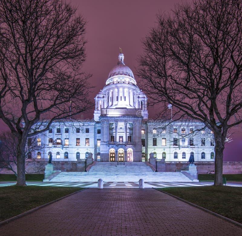 罗德岛州状态议院 免版税库存照片
