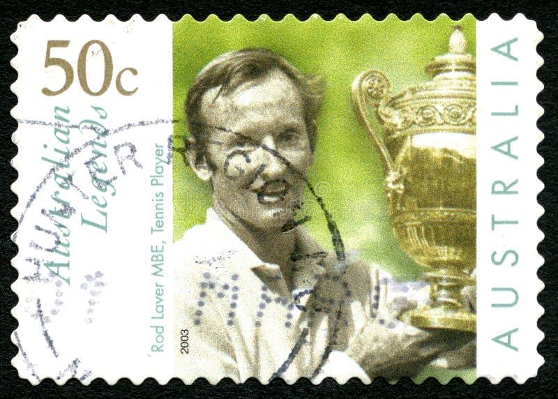 罗德・拉沃澳大利亚邮票 免版税库存图片