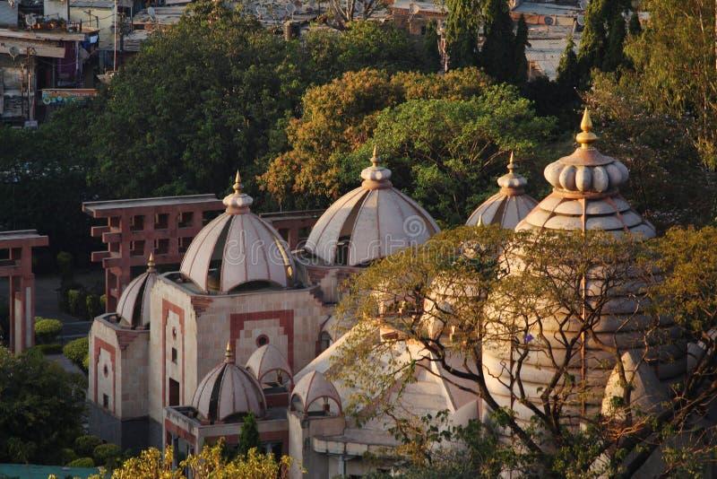 罗摩克里希纳算术和罗摩克里希纳使命,浦那,马哈拉施特拉寺庙圆顶  库存照片