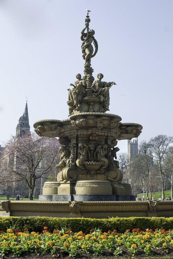罗斯喷泉,爱丁堡,苏格兰, 图库摄影