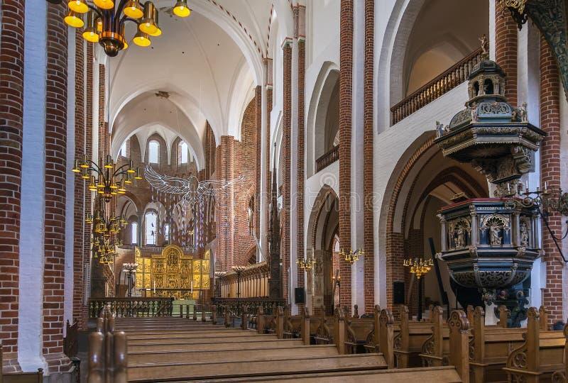 罗斯基勒大教堂,丹麦 免版税图库摄影