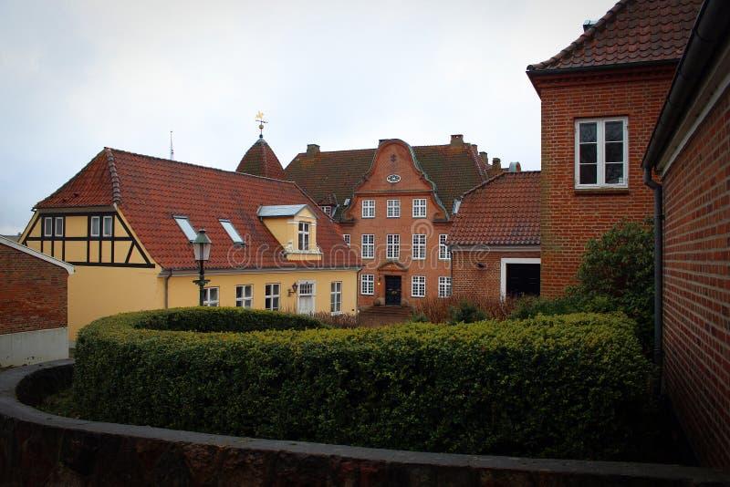 罗斯基勒,丹麦舒适小屋  图库摄影