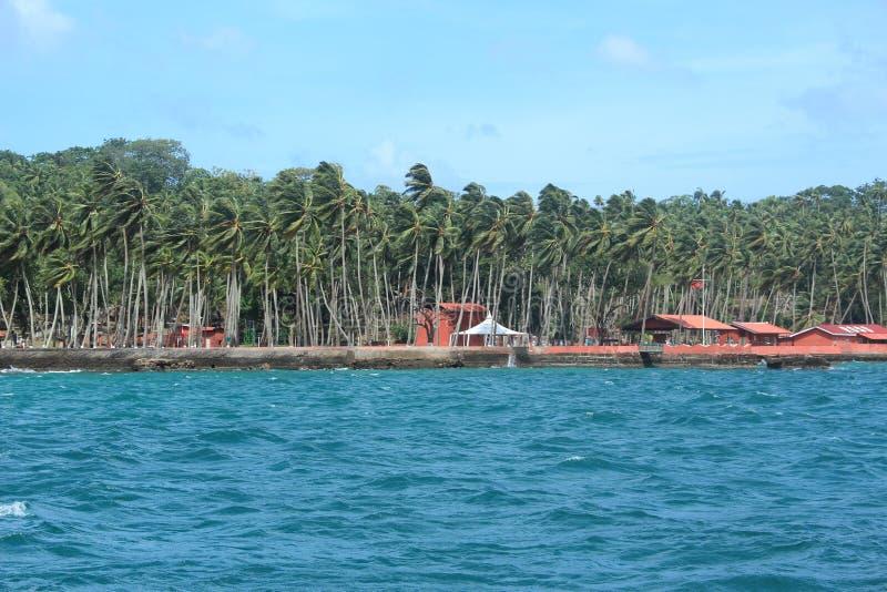 罗斯岛(安达曼) 免版税图库摄影