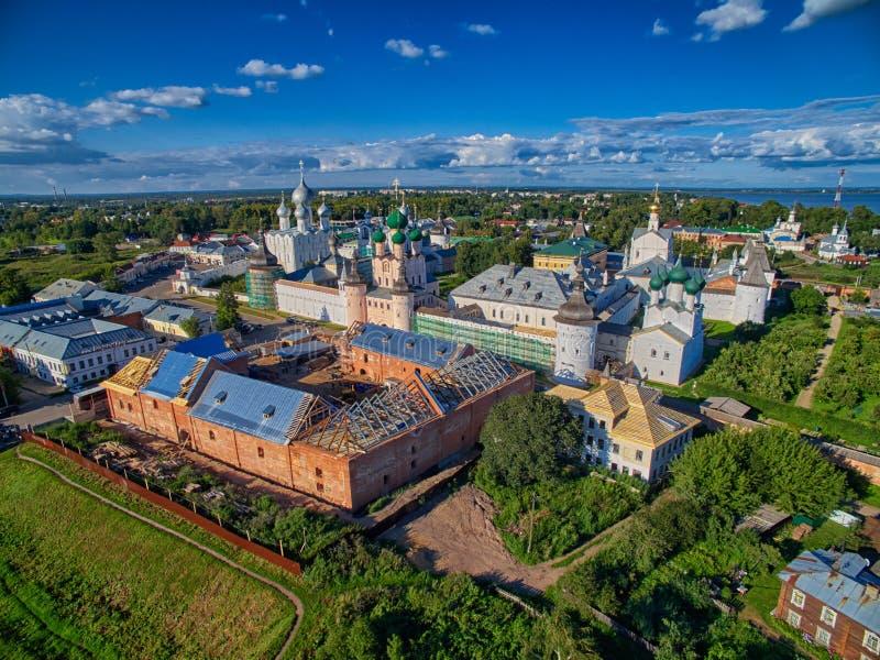 罗斯托夫伟大的克里姆林宫天线 免版税库存照片