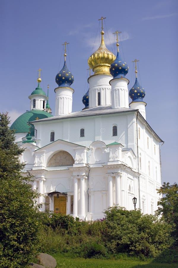 罗斯托夫伟大的救主Yakovlevsky修道院构想教会 免版税库存照片