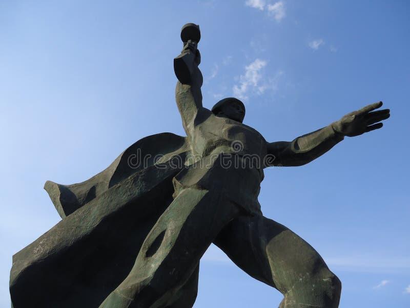 罗斯托夫地区, Shakhty战士纪念碑 免版税库存照片