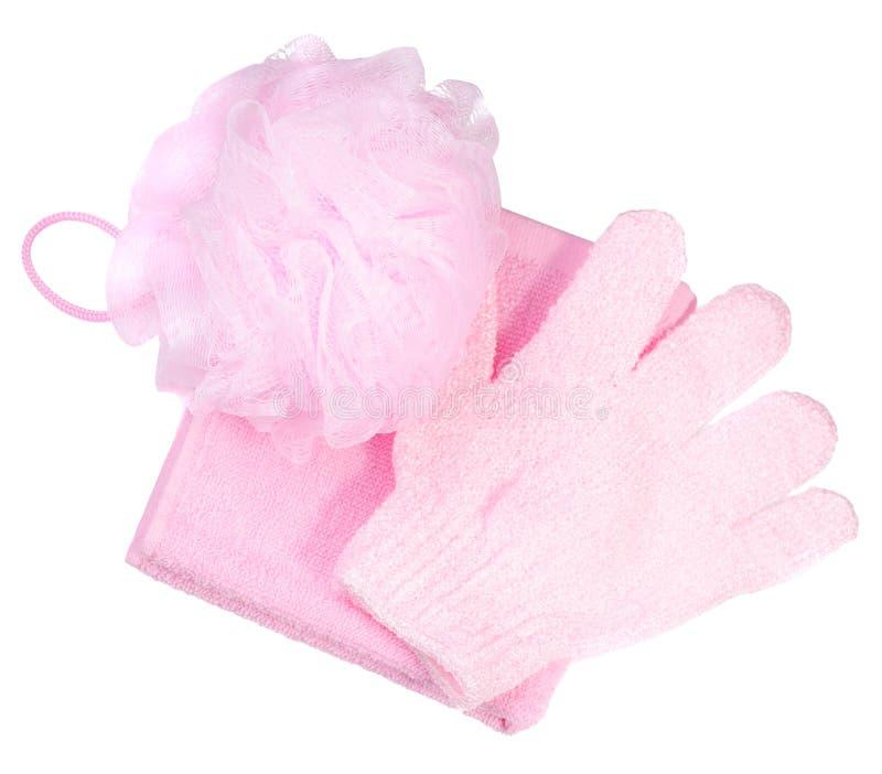 罗斯毛巾和丝瓜络 库存照片