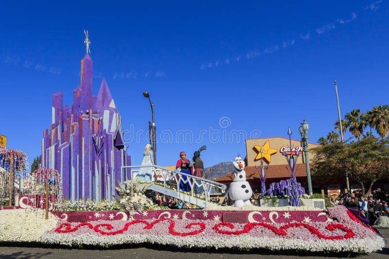 罗斯游行在帕萨迪纳,加利福尼亚,美国- 2016年1月1日 库存照片