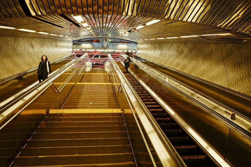 罗斯福岛地铁,纽约-7 免版税库存照片