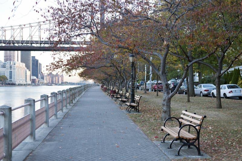 罗斯福岛散步,纽约 免版税库存照片