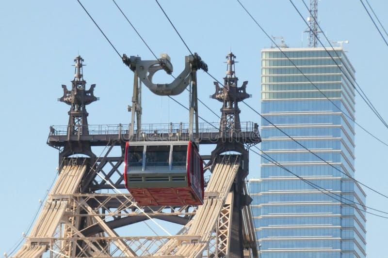 罗斯福岛电车在纽约 库存图片