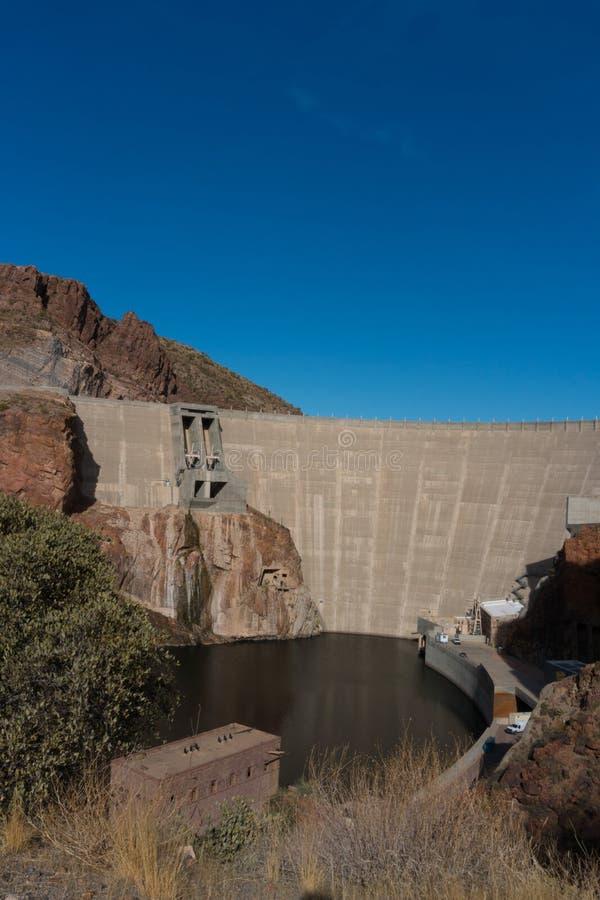 罗斯福水坝的垂直的Salt河视图 库存图片