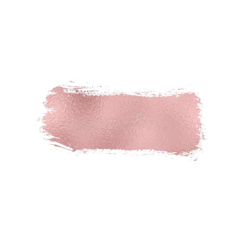 罗斯箔纹理刷子冲程 弄脏闪烁桃红色,在白色背景的闪闪发光光滑的油漆 也corel凹道例证向量 皇族释放例证