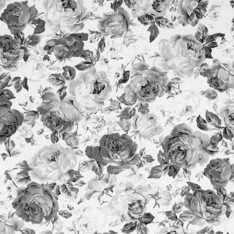 罗斯织品背景,黑白的葡萄酒 库存图片