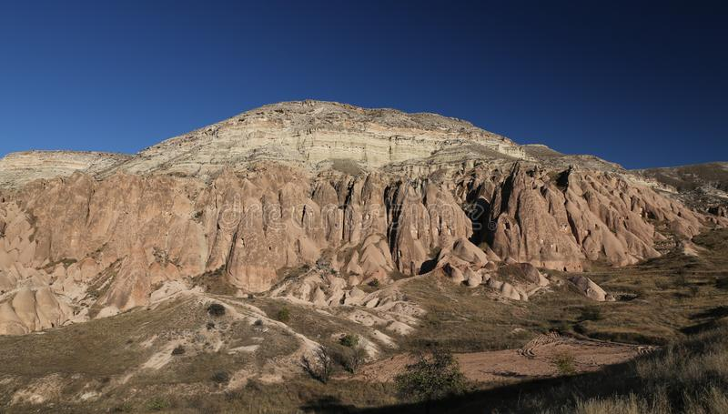 罗斯谷在Cavusin村庄,卡帕多细亚,内夫谢希尔省,土耳其 免版税库存照片