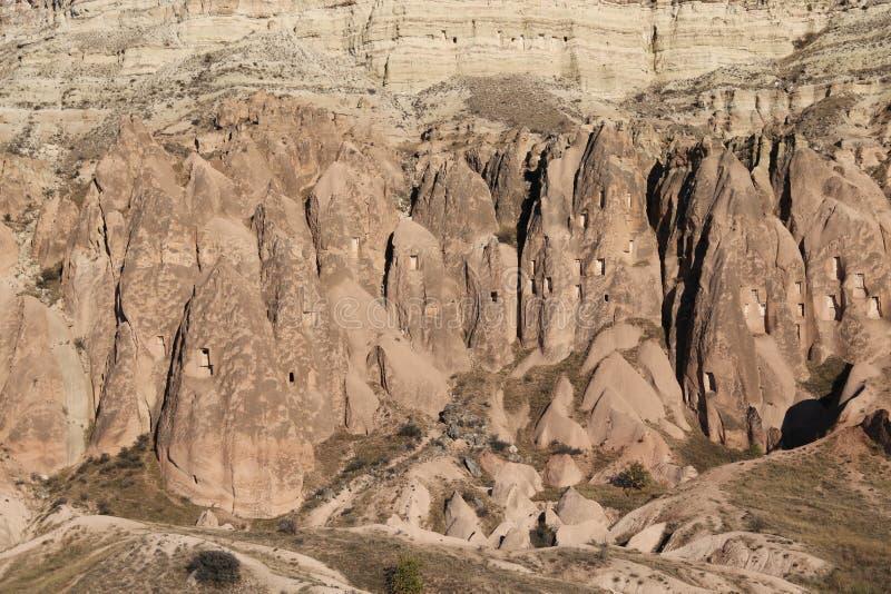 罗斯谷在Cavusin村庄,卡帕多细亚,内夫谢希尔省,土耳其 免版税库存图片