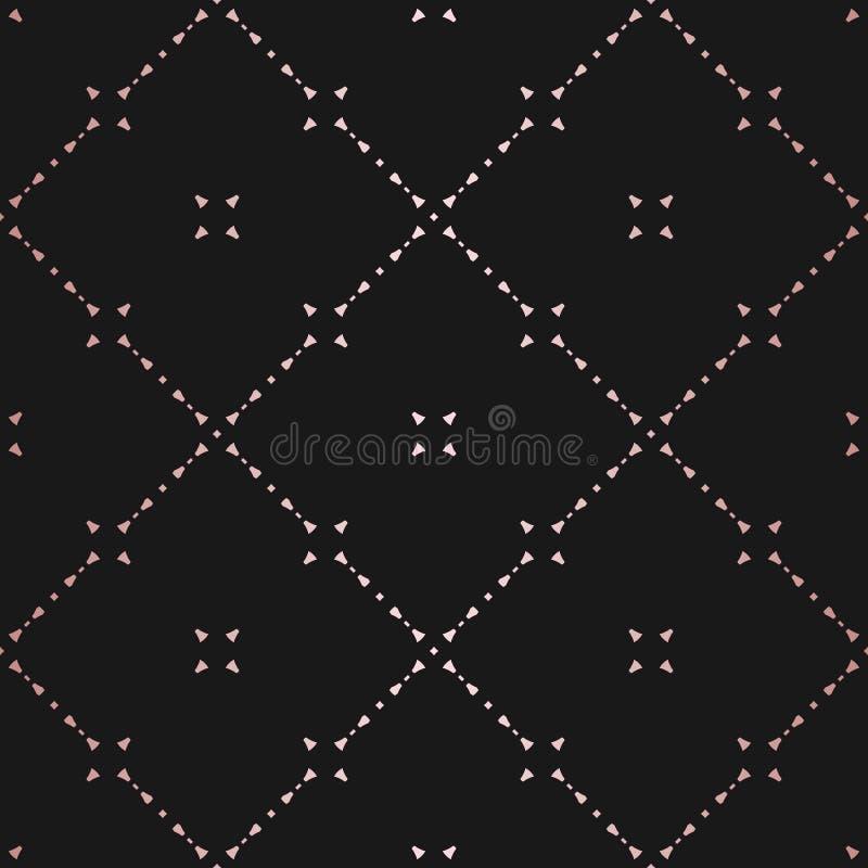 罗斯金几何无缝的样式 r 库存例证