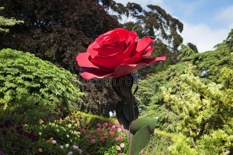 罗斯雕塑克赖斯特切奇植物园新西兰 免版税库存照片