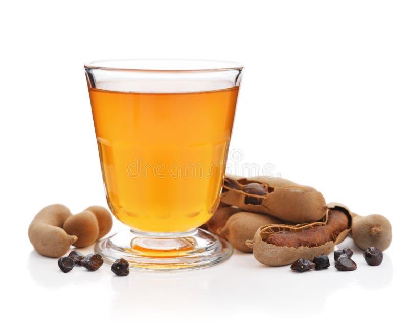 罗望子树汁液用罗望子树荚 图库摄影