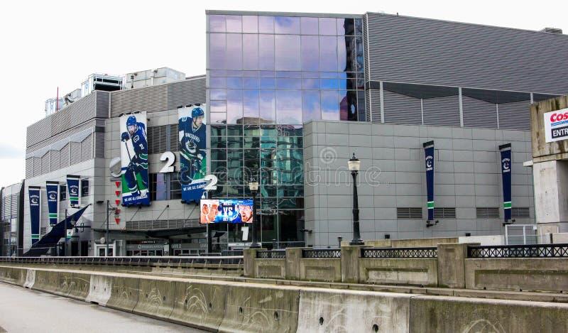罗杰斯竞技场,温哥华市中心,不列颠哥伦比亚省 免版税库存照片