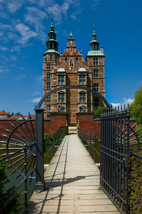 罗森堡城堡在哥本哈根,丹麦 图库摄影