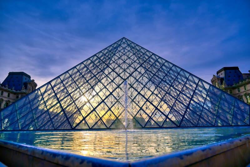 罗浮宫在巴黎,法国 图库摄影