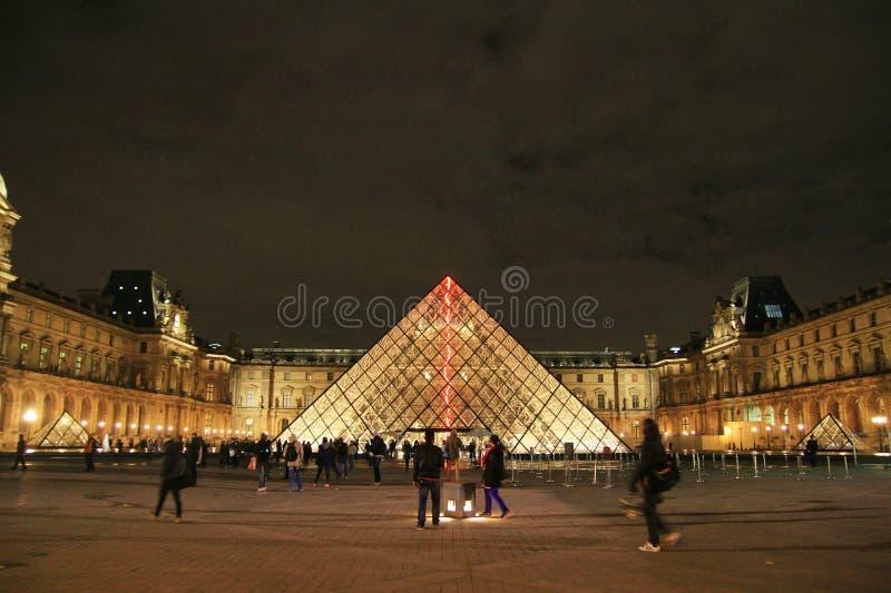 罗浮宫的看法,巴黎,法国 库存照片